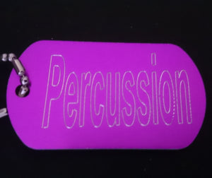 """Percussion"" Dogtag"