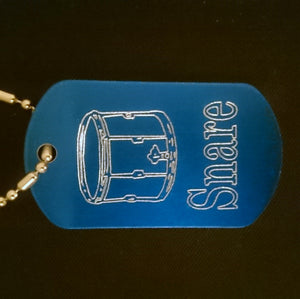 Snare Graphic Dogtag