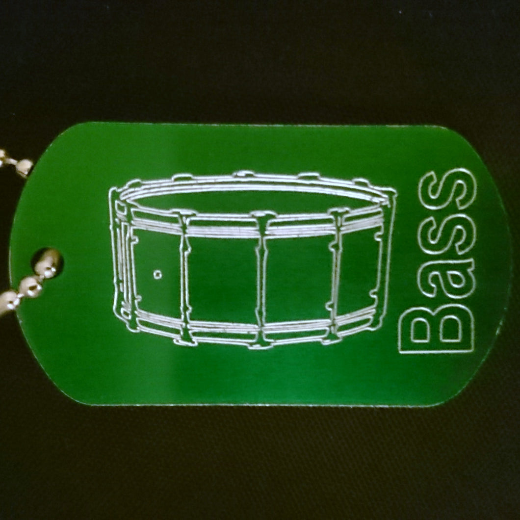 Bass Drum Graphic Dogtag