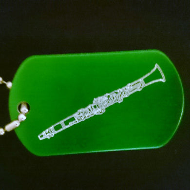 Clarinet Graphic Dogtag
