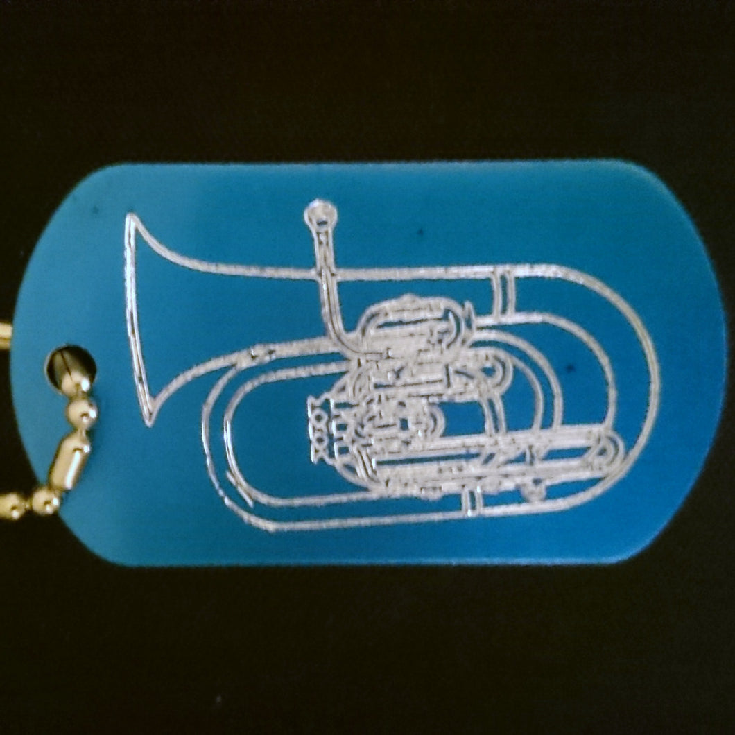 Marching Baritone Graphic Dogtag