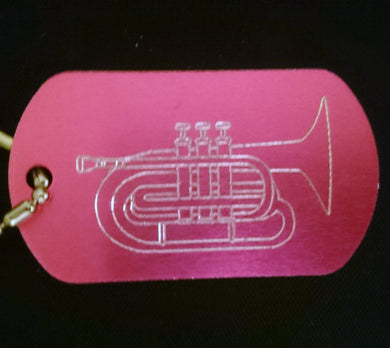 Mellophone Graphic Dogtag