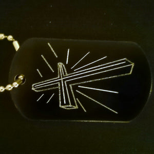 Cross Graphic Dogtag