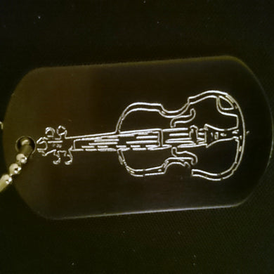 Cello Graphic Dogtag