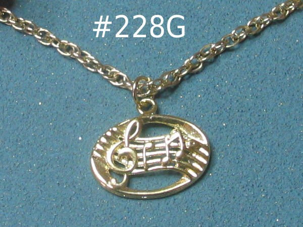 Music Notes, Gold-tone