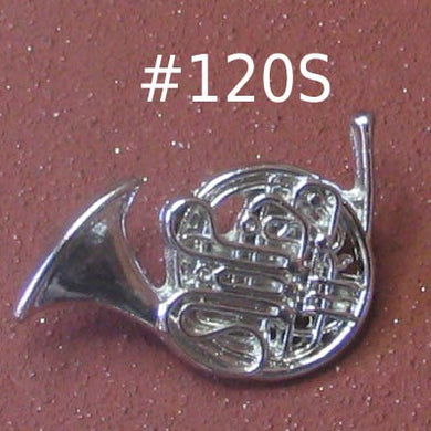 French Horn Silver-tone