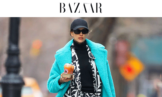 Irina Shayk Just Wore Everyone's Favorite Teddy Bear Coat in New York