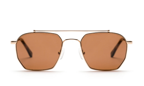 Bowie Sunglasses Gold Choc