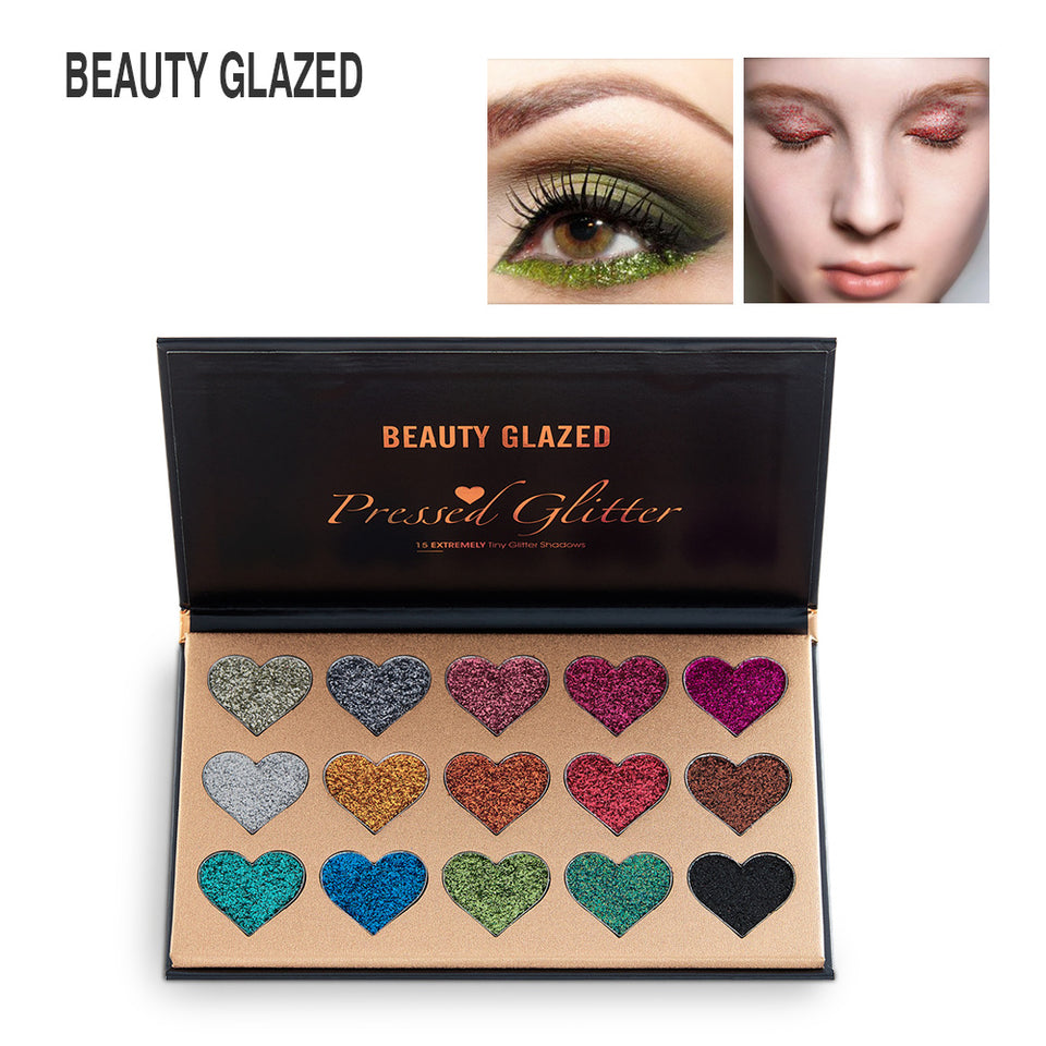 Beauty Glazed 15 Ultra Pigmented Glitter Eyeshadow Palette