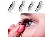 REUSABLE EYELASHES WITH POWER OF MAGNET - NO GLUE REQUIRED (SET OF 4PCS)