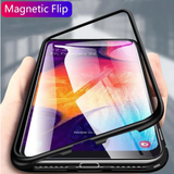 Galaxy A50 Auto-Fit Magnetic Transparent Glass Case
