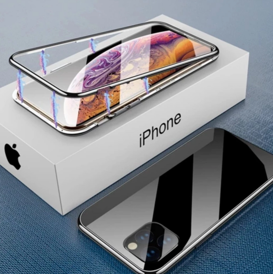 Auto-Fit iPhone 11 Electronic  Magnetic Glass Case