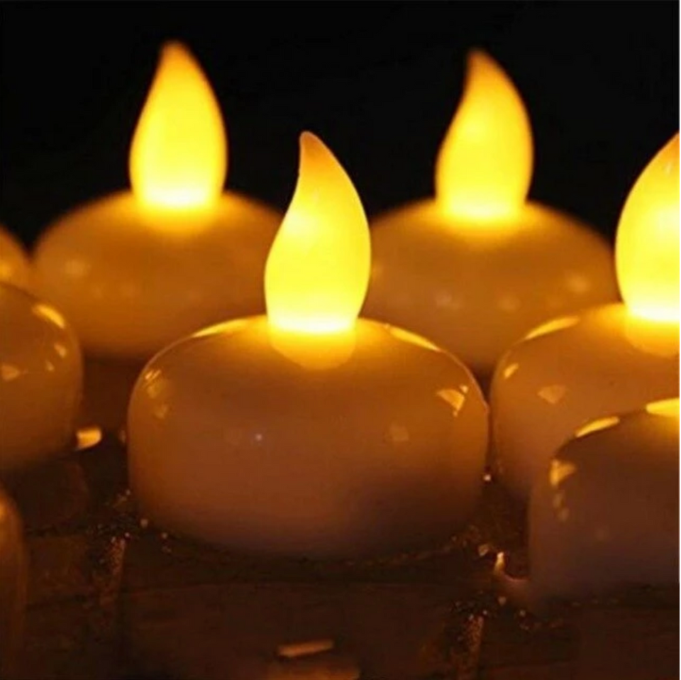 LED Floating Candles Pack Of 10 Pieces