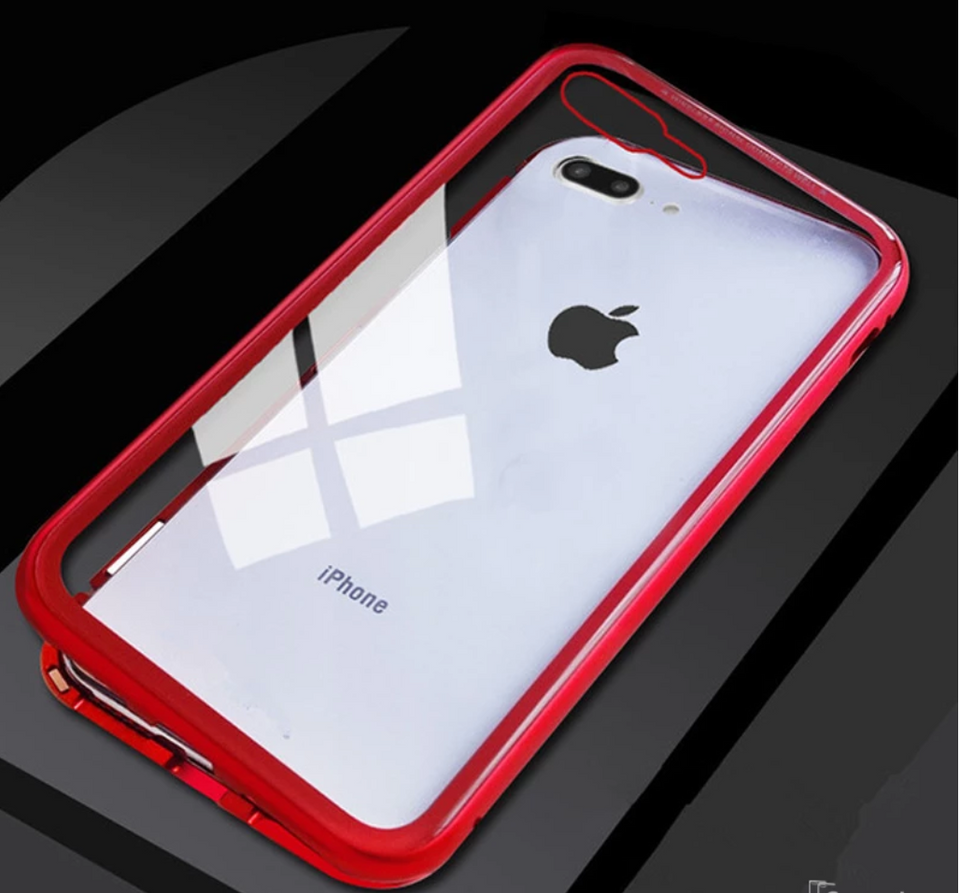 Electronic Auto-Fit Magnetic Glass Case for iPhone 7/8