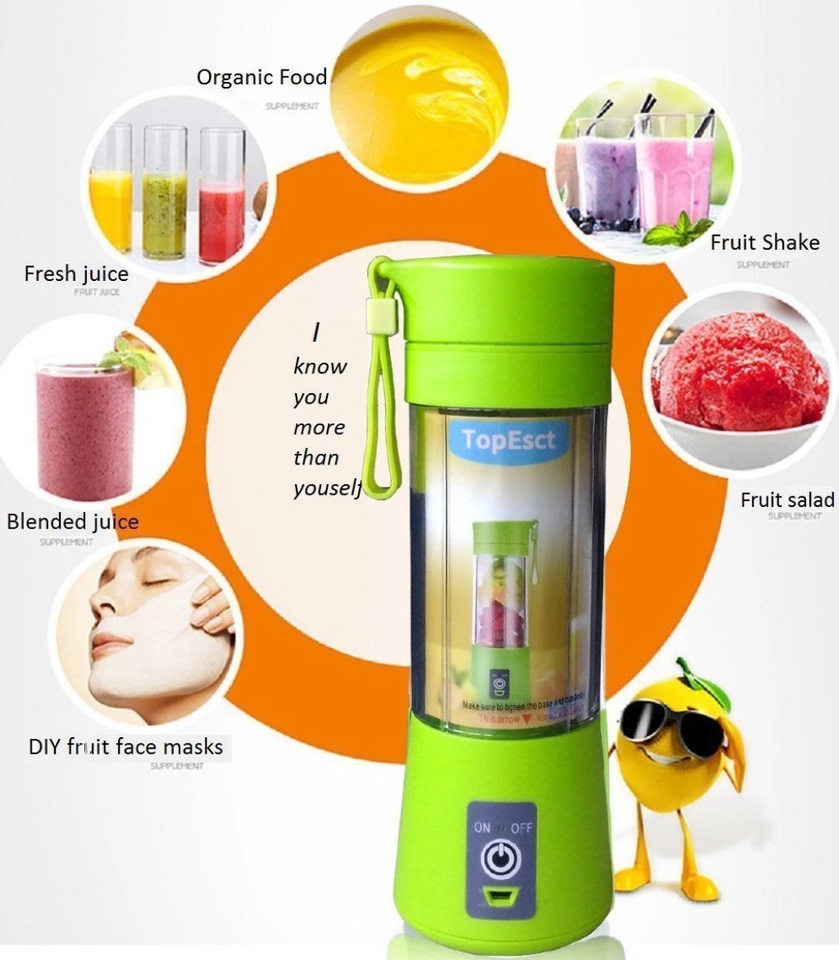 USB RECHARGEABLE PORTABLE JUICER MIXER GRINDER