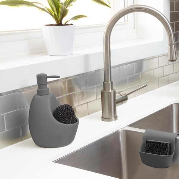Joey Kitchen Soap Pump with Scrub - Charcoal