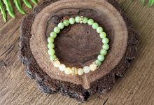 Load image into Gallery viewer, gemstone green bracelet