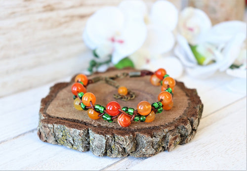 Handmade Natural Agate Braided Bracelet