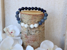 Load image into Gallery viewer, Lapis Lazuli and Blue Aventurine Bracelet