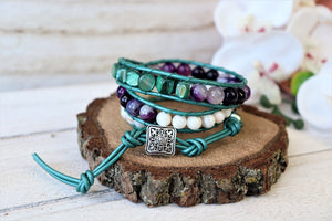 Handmade Three Wraps Bracelet
