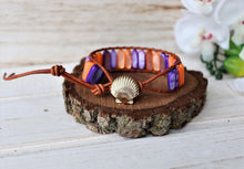 Load image into Gallery viewer, gemstone leather wrap