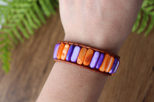 colorful leather wrap