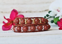 Load image into Gallery viewer, beaded gemstone boho cuff