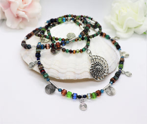 crystal beaded necklace