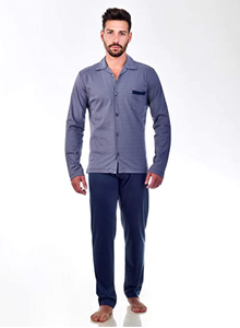Tex Pigiama Collo Camicia Uomo in Interlock 100% Cotone Stampato