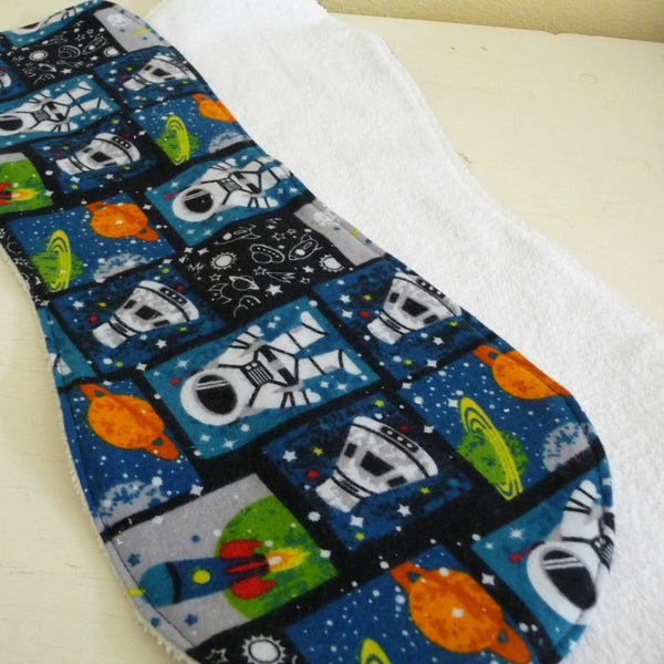 Space Journey Burp Cloth set of 2