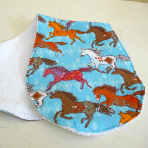 Southwest Horses Burp Cloth