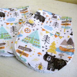 Go Camping Baby Burp Cloth Set of 2