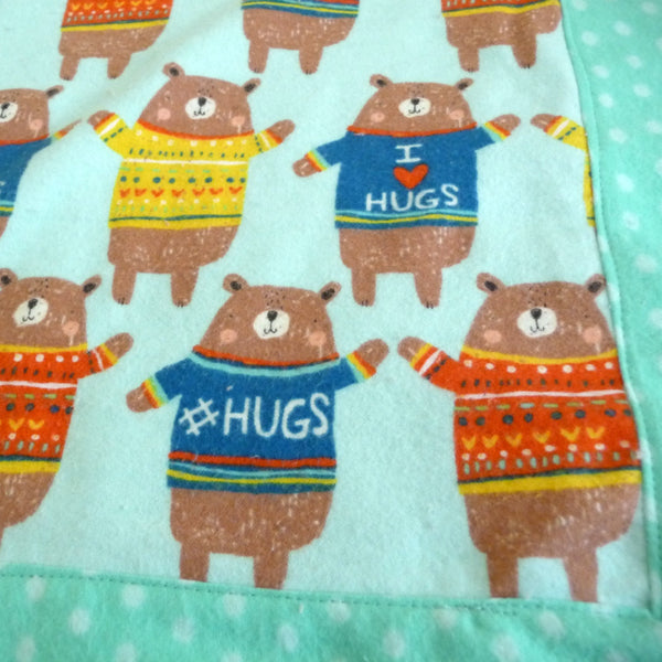 Bear Hugs Flannel Blanket
