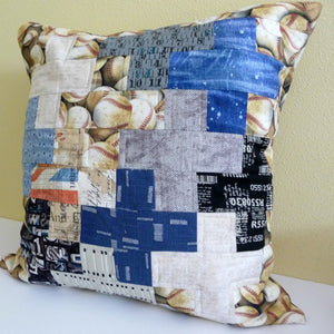 Positive Signs Quilted Pillow Cushion Cover
