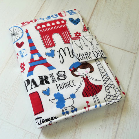 Cute Paris Print Kindle Cover
