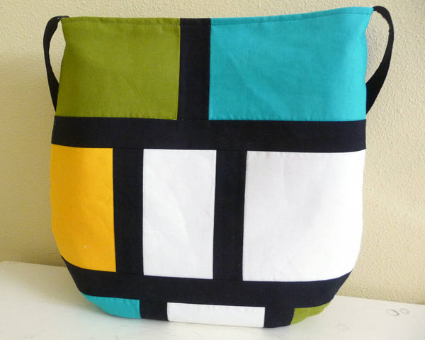 Modern Color Block Tote Bag