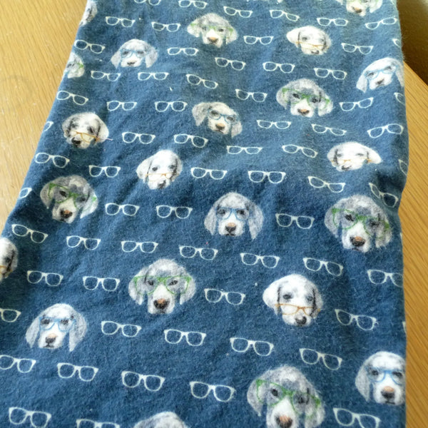 Hidden Pocket Infinity Scarf Dogs in Glasses