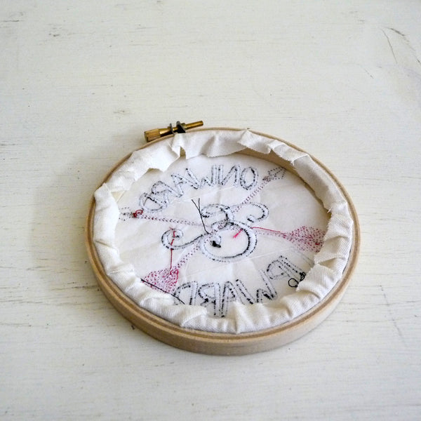 Onward and Upward Embroidered Hoop Decor