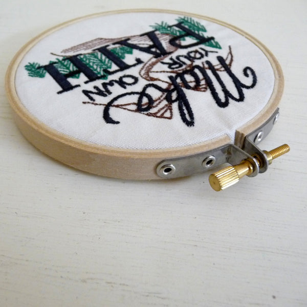 Make Your Own Path Embroidered Wall Decor