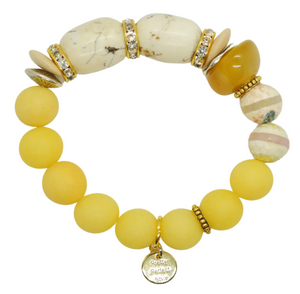 Butterscotch Jade One of a Kind Bracelet