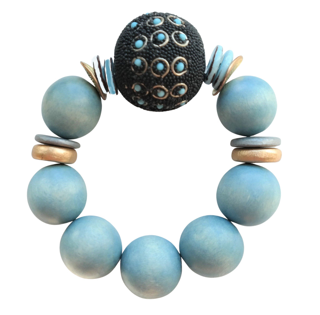 Baby Blues Kashmiri One of a Kind Bracelet