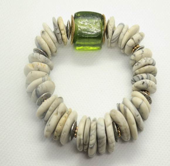 Green with Envy One of a Kind Bracelet