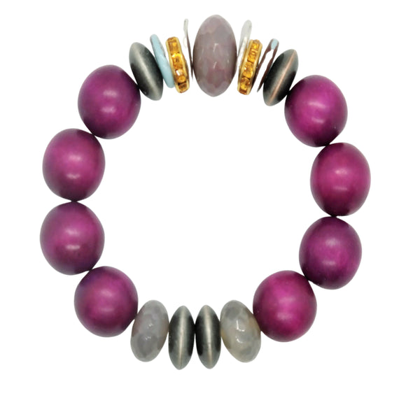 Plum Agate One of a Kind Bracelet