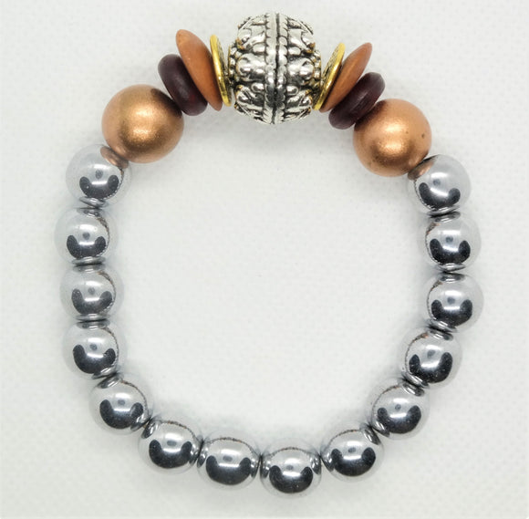 Hematite Haven One of a Kind Bracelet