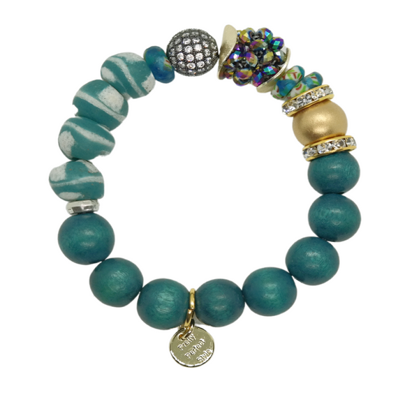 Teal & Turquoise One of a Kind Bracelet