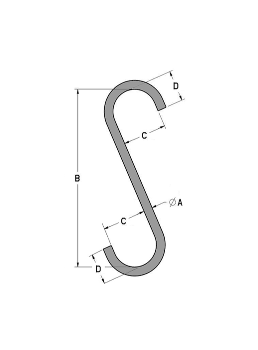 S-Hook Style A Diagram
