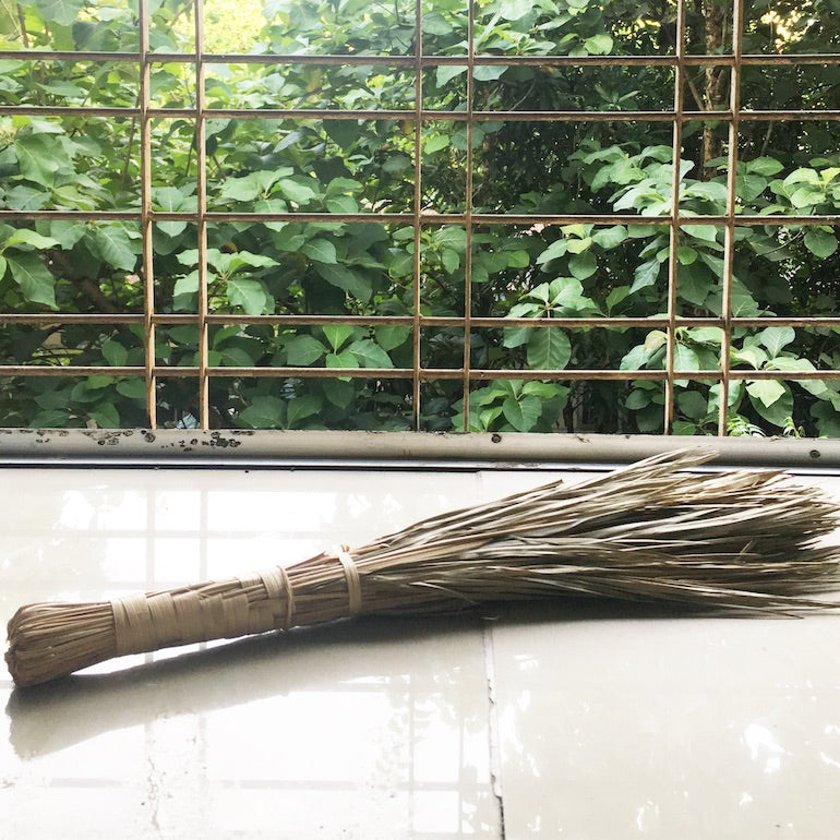 leaf duster broom made in myanmar