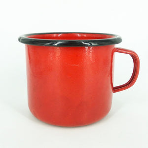 red enamel cup thick