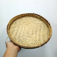 Load image into Gallery viewer, Flat Bamboo Basket