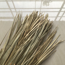 Load image into Gallery viewer, leaf duster broom detail made in myanmar